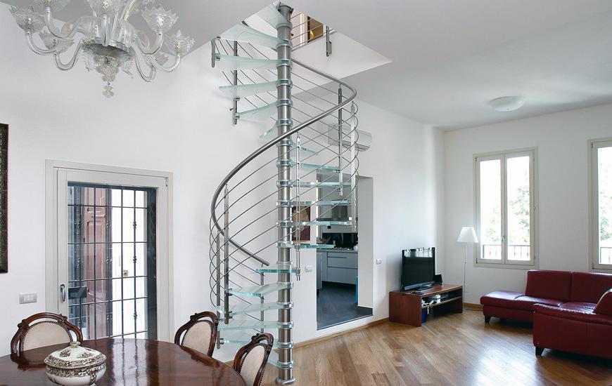 Scale ferro acciaio vetro interno ed esterno - SERTEK Tolentino Macerata